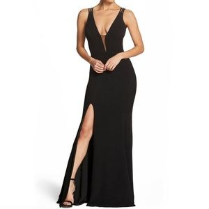 Dress the Population Blac Plunging Strappy Dress